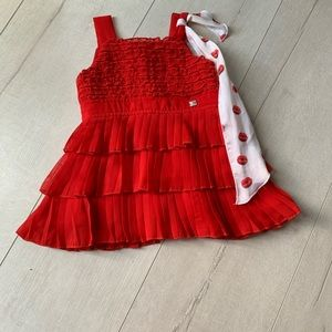 Other - Girl red dress worn once. Come from Italy